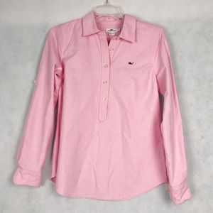 Vineyard Vines Button Front Pink Top Size 2